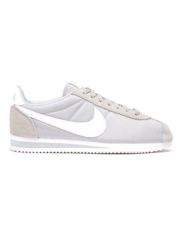 Mens NIKE CLASSIC CORTEZ NYLON Grey White Trainers 807472 010