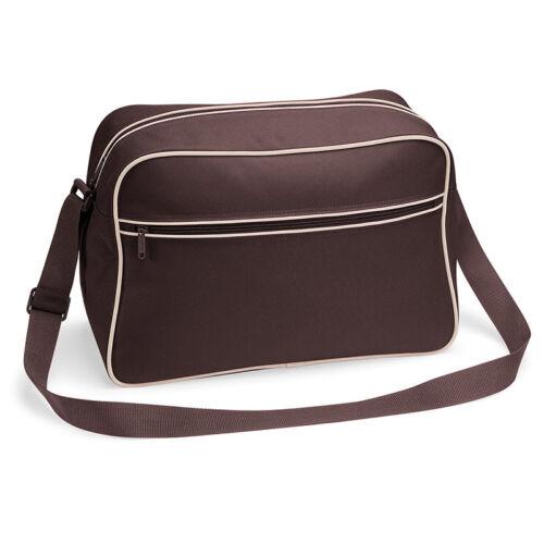 BagBase Retro Shoulder Bag Messenger Office College Uni School Travel Gym New