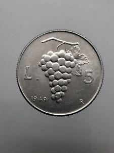 Republic-Italian-5-Livres-Grape-1949-Spl
