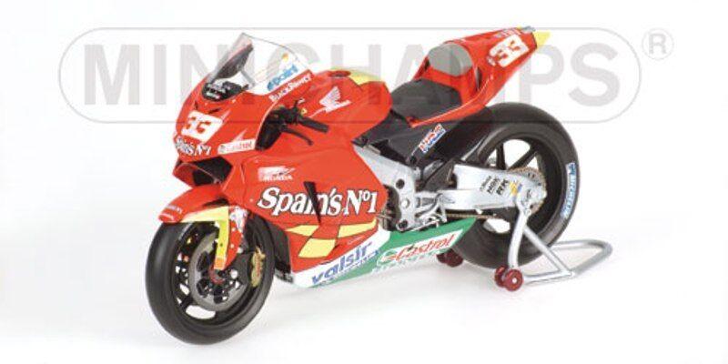 MINICHAMPS 122 061033 HONDA RC211V model bike Marco Melandri MotoGP 2006 1 12th