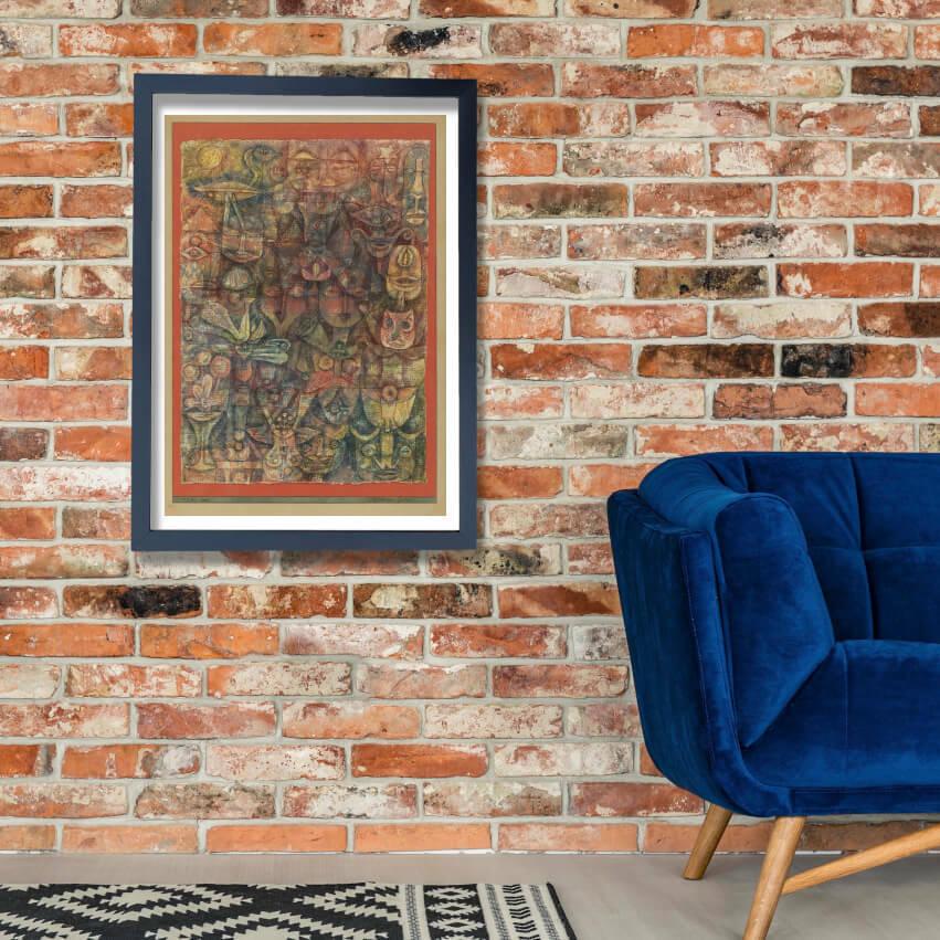 Paul Klee - Strange Garden Wall Art Poster Print