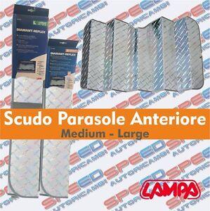 SCUDO PARASOLE ANTERIORE L 80X140 PARASOLE PER PARABREZZA LAMPA DIAMANT-REFLEX
