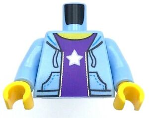 LEGO Lite GRAY HOODIE MINIFIG TORSO Boy Girl Sweat Shirt Jacket Dark Red Top