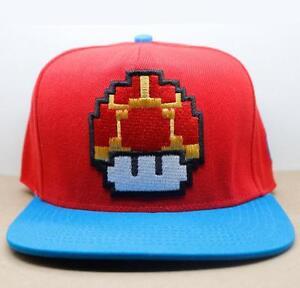 fe1fb5c43e4 Image is loading Super-Mario-Bros-Red-Mushroom-Logo-Adjustable-Baseball-