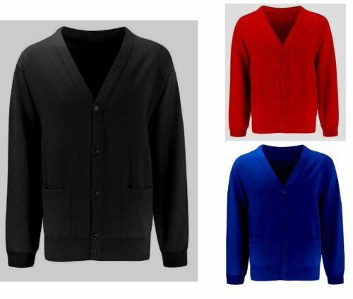 Girls Kids School Fleece Cardigans Button jumper Sweatshirt Top Age 5-14 years