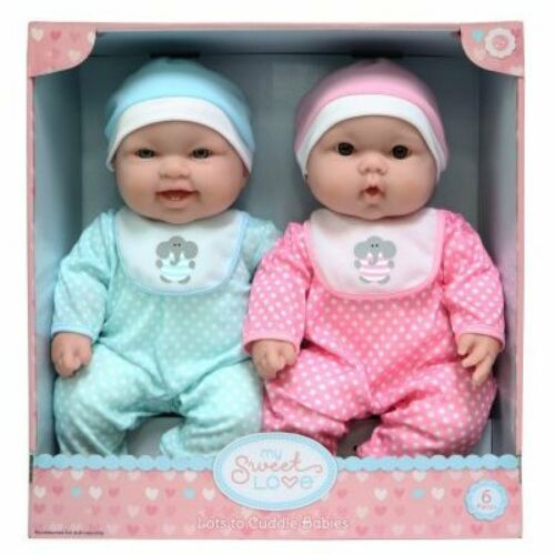 My Sweet Love Lots To Cuddle Babies Twin Doll Set Wonderful Present Toy Playset