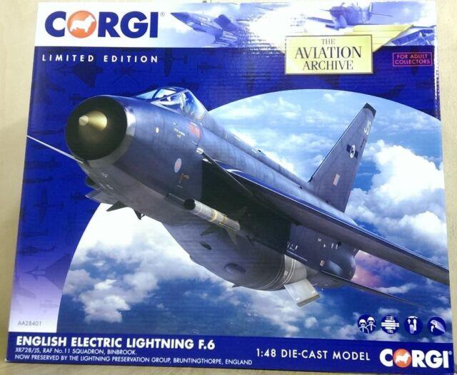 Corgi AA28401 English Electric Lightning F.6 XR728/JS 11 Sqn Ltd Edition of 2000