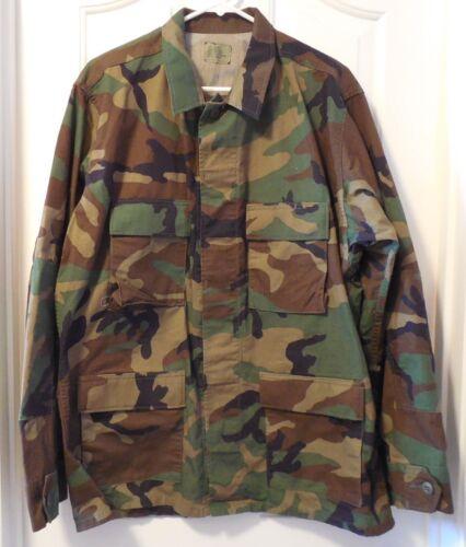 BDU Woodland Camouflage Shirt Jacket Military Issue Various Sizes