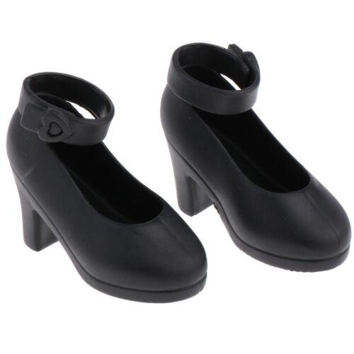 1//4 BJD Dolls Shoes for Night Lolita Ankle Belt High Heels Accessory Black