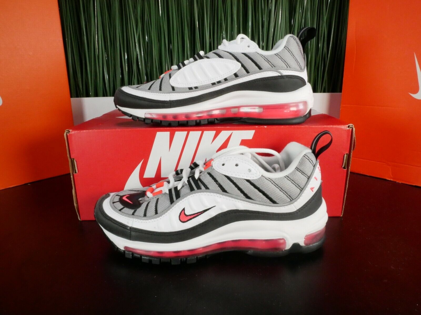 Nike Air Max 98 Solar Red White Womens Running Shoes AH6799 104 Size 6 8.5
