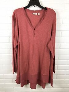 Logo-by-Lori-Goldstein-Womens-V-Neck-Long-Sleeve-Tunic-Top-Size-3X-NWOT