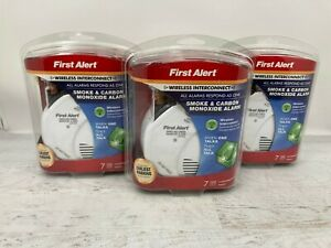 3-pack-First-Alert-Smoke-amp-Carbon-Monoxide-Alarm-Detector-Wireless-Interconnect