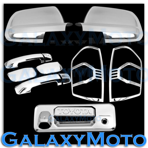 NEW 14-19 TUNDRA Double Cab Chrome Mirror+4 Door Handle+Tailgate+Taillight Cover