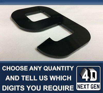 X1 4D NEXT GEN Laser Cut FAI DA TE TARGA caratteri lettera lettere nere KIT 1