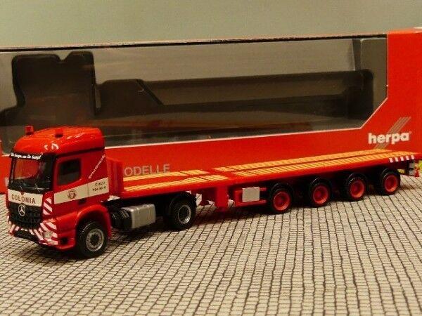 1 87 HERPA MB Arocs Teletrailer-Semi-remorque Colonia 309653
