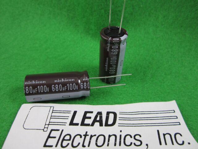 1000 uF @ 100 VDC fresh stock Nichicon PW series 105C electrolytic capacitor