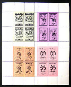 GB-GERALD-KING-Wonderland-Complete-Sheet-of-Blocks-of-4-with-SEE-BELOW-FP8497