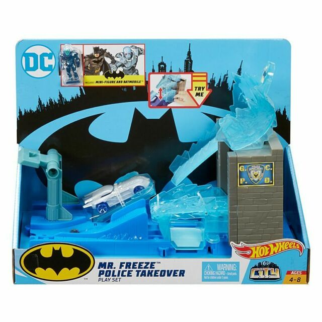 Hot Wheels DC Mr Freeze Playset Brand New Kid Toy Gift
