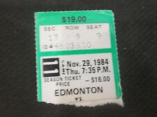 NHL-BOSTON BRUINS VS. EDMONTON OILERS-NOVEMBER 29,1984 TICKET STUB