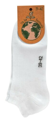 Leichte Sneakers Socken 3-9 Paar BIO Söckchen Weiß Schwarz Damen Herren Strümpfe