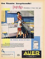PUBLICITE ADVERTISING 114 1959 AUER cuisinière au gaz