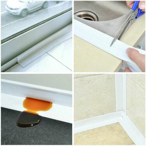 Moldproof Kitchen Bath Wall Sealing Strip Self-Adhesive Caulk Tape Bathroom 3.2M