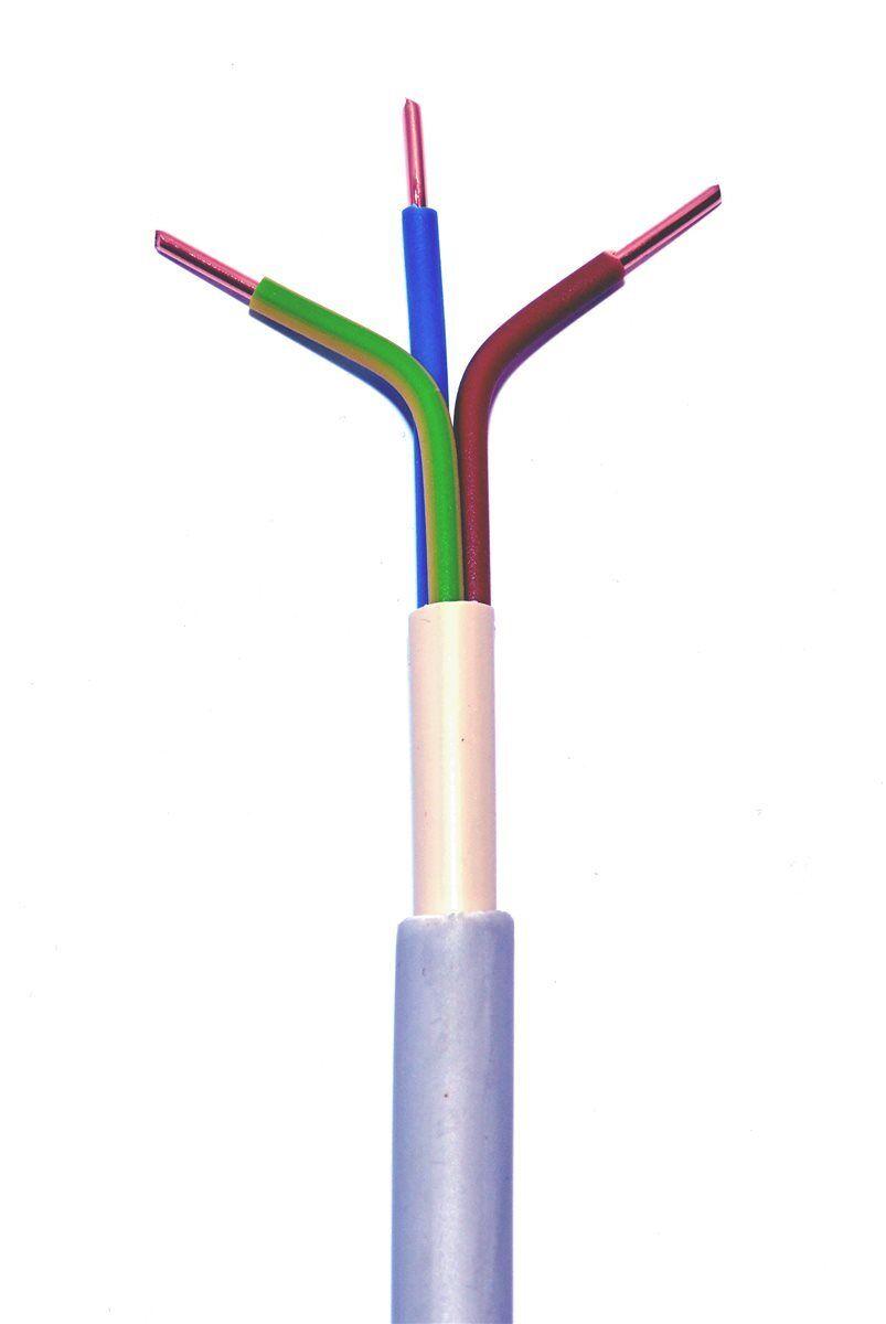 NYM-J 3x4mm² Mantelleitung Installationsleitung Feuchtraumkabel Meterware