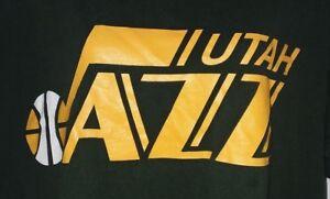 UTAH-JAZZ-Mens-Blue-Basketball-T-Shirt-Salt-Lake-City-NBA-Sports-Athletic-SZ-XL