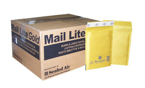 50x Large Mail Lite Envelopes Size H5 270x360mm Gold Bubble Protected Mailers