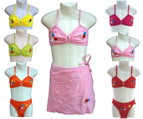 DOLCETTO 3tlg Bikini Set Con Gonna da Spiaggia Colore E Dimensione Selezionabile y503a NUOVO