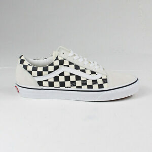 Vans Old Skool Primary Check Trainers Shoes In White Uk Size 6 7 8 9 10 11 12 Ebay
