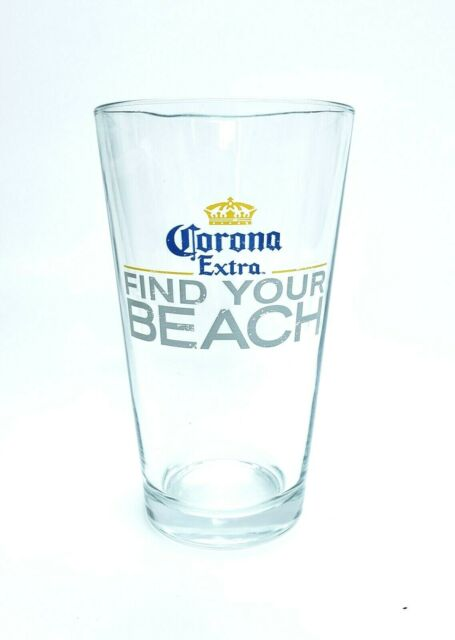 Corona Extra Beer Glass Find Your Beach Relax Responsibly ...