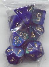 RPG Dice Set of 7 Cube - Gemini Blue-Green (Bag)