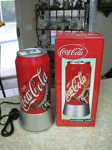 COCA-COLA Can Electric Sparkling Light Lamp ~ Rotating