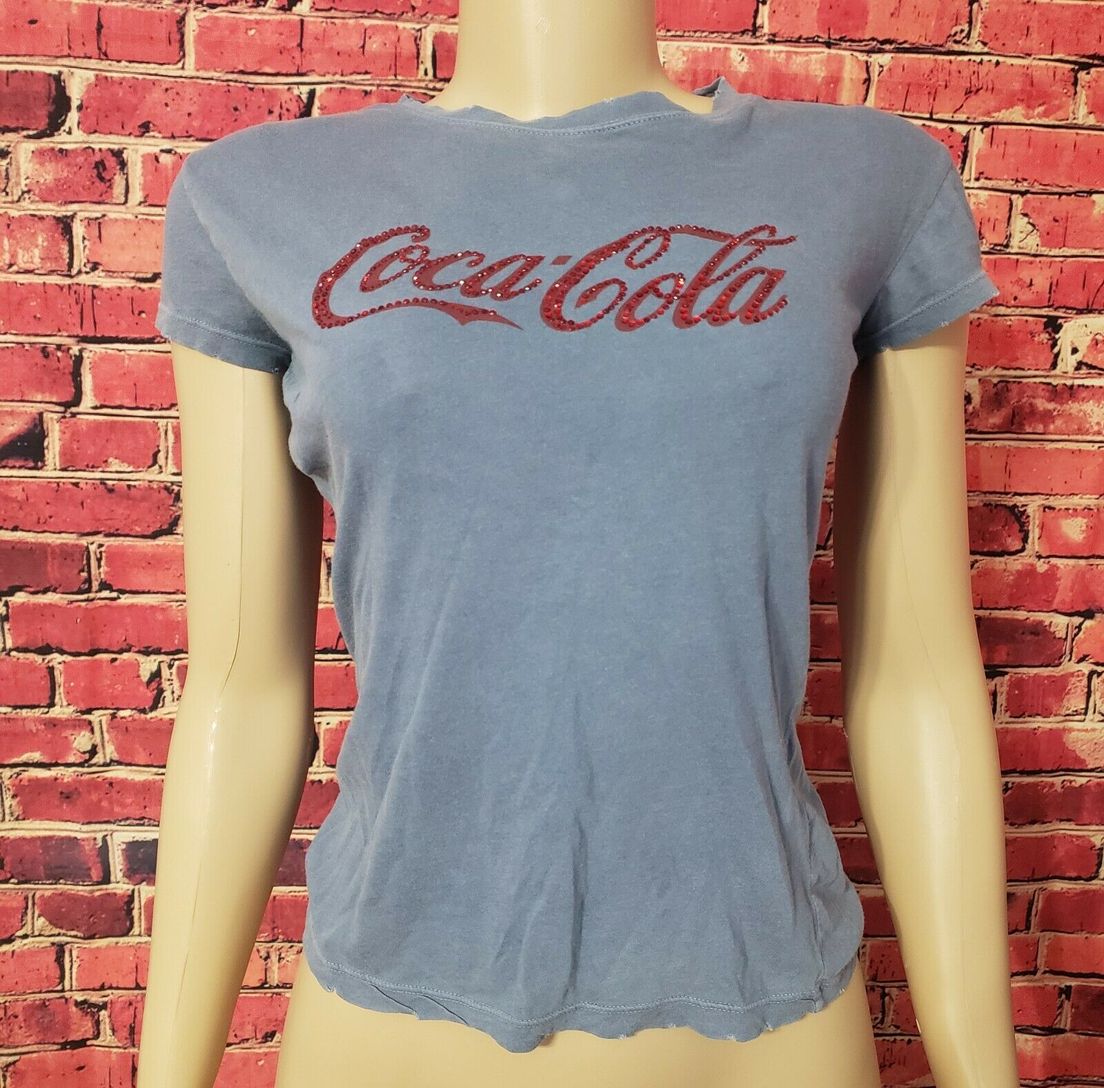 damen's Coca-Cola Coke Rare Vintage Shirt Sleeve Top Shirt T-Shirt Top M
