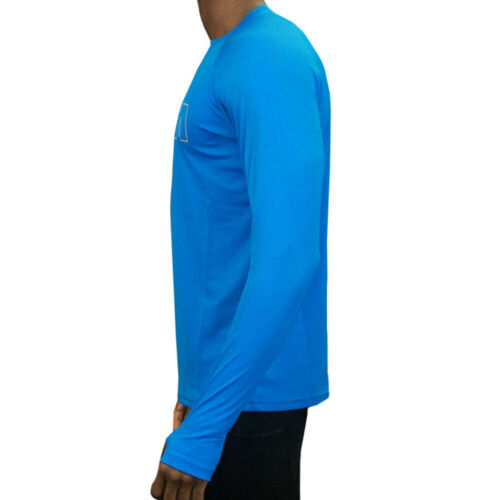 OMM Mens Long Sleeved Bearing Top Blue Sports Running Breathable Lightweight