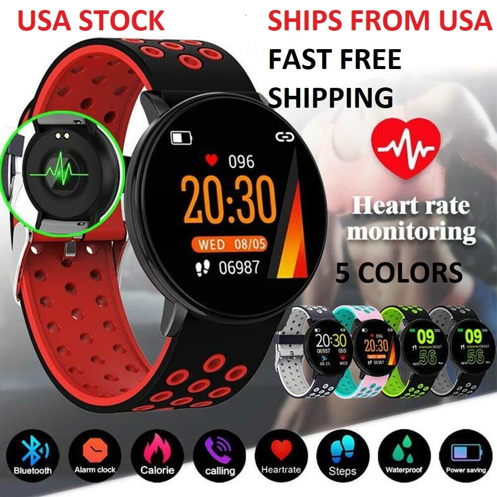 Smart Watch For IOS Android HeartRate Fitness Monitor IPhone