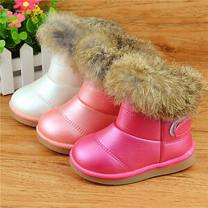 2016 New Winter Kids Girls Boots Shoe Baby Infant Snow Boot Shoes 1-6Y