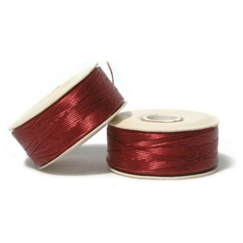 Nymo Beading Thread Size B Red 43912 Red Waxed Nylon Thread 2 bobbins