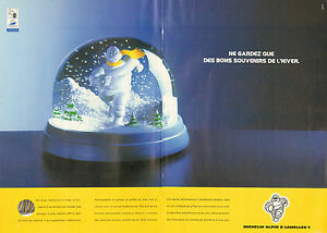 Publicité Advertising 2002  (Double page)  Pneu Michelin Alpin à lamelles Y