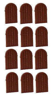 ☀️NEW LEGO X12 Reddish Brown Window 1 x 2 x 2 2//3 Shutter w// Rounded Top Castle
