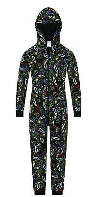 The Pyjama Factory Control Freak Gaming Black Cotton Long Pyjamas