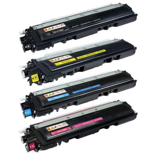 4PK TN210 BK Y C M Toner Cartridge Set For Brother DCP-9010CN MFC-9120 MFC-9320