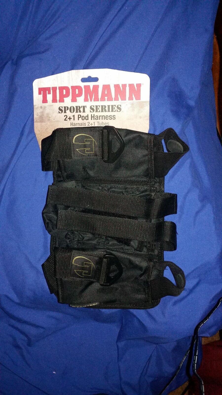 Tippmann Sport Series Paintball Pack // Harness 2+1 T399005 Black