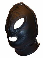 Gothic faux leather HOOD with Ring theatre HP-30-PVC, FREE UK DELIVERY