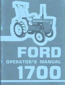 ford tractor  operators manual ebay
