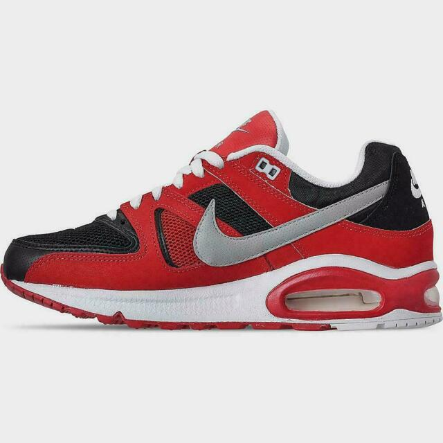 Nike Air Max Command Shoes Red White Black 629993-039 Men's NEW