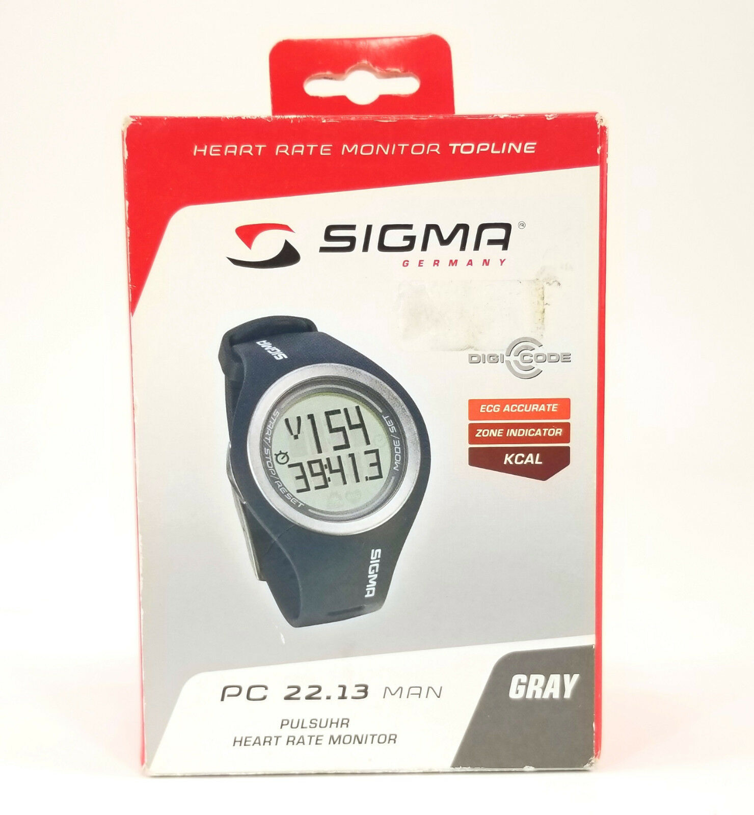 Sigma Sport PC 22.13 MAN Heart Rate Monitor Watch w  Calorie Counter