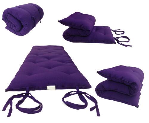 Purple Traditional Japanese//Thai Floor Rolling Futon Mattresses 3 x 27 x 80