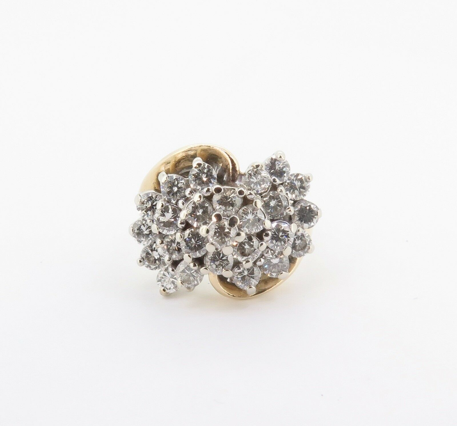 .A 2.00cttw Diamond Ladies 14k gold Cluster Ring Size M Val  5990